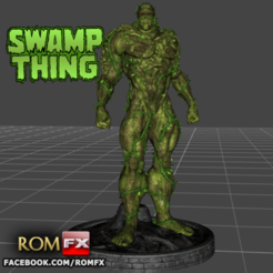 Imprimir en 3D Figura de Swamp Thing TV SHOW imprimible, ROMFX