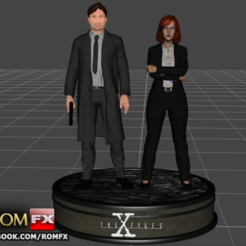 Download 3D printing files The X Files - Mulder and Scully Printables Figures, ROMFX