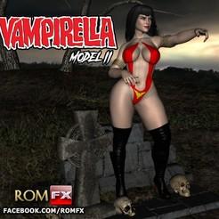 Impresiones 3D Vampirella Modelo 2 - El chupador de sangre más sexy, ROMFX