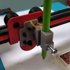 3.jpg Download STL file Alfawise U20 pen holder / porte stylo / PCB plotting • 3D printing object, Axel725