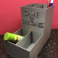 Free STL files Pencil holder Game of Thrones / Pencil case GOT, Pierrolalune63