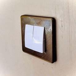 Impresiones 3D gratis Cubierta del interruptor tipo Legrand, Pierrolalune63