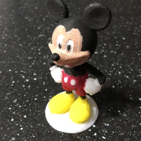 Free 3D printer files Mickey Mouse, Disney, Character, Toy, Pierrolalune63