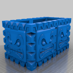 Download free STL file Big Thwomp Planter • 3D printable model, helmuteder
