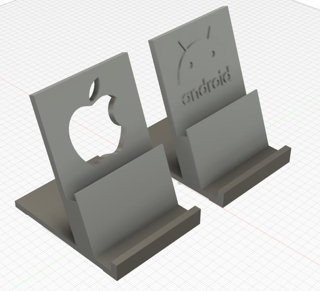 phonestandv2.jpg Download free STL file Phone Stand for Android and Iphone • 3D printing model, helmuteder