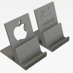 Download free STL file Phone Stand for Android and Iphone • 3D printing model, helmuteder