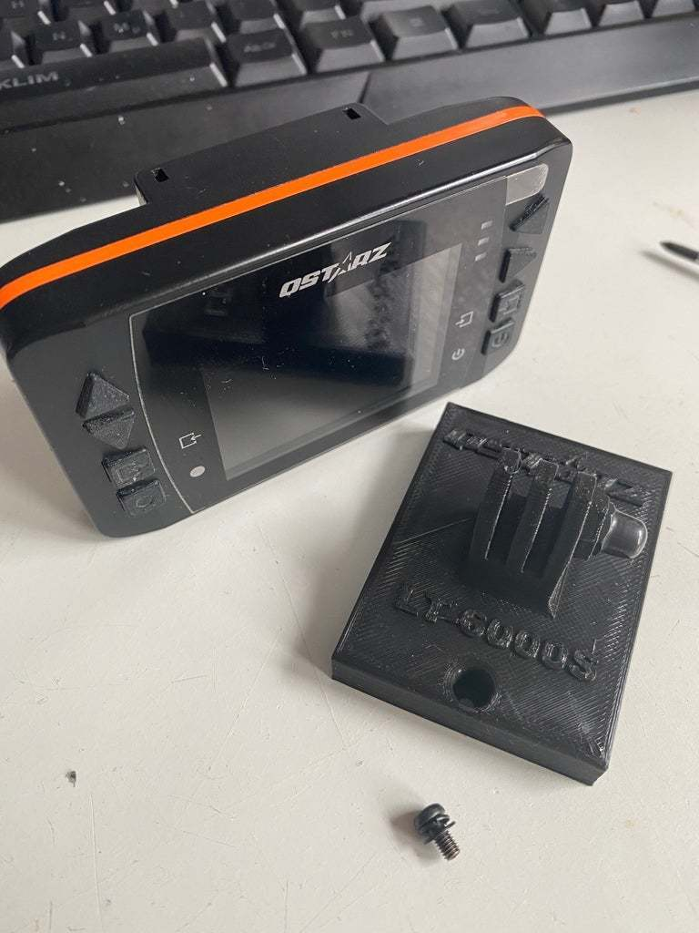 IMG_0308.JPG Download free STL file QSTARZ LT-6000 to GoPro Mounting Plate • 3D printable template, helmuteder