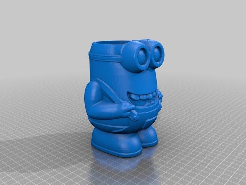 f7c677ac43cf2a55913d0ad442bbfff2.png Download free STL file Minion Flower Pot • 3D printing template, helmuteder