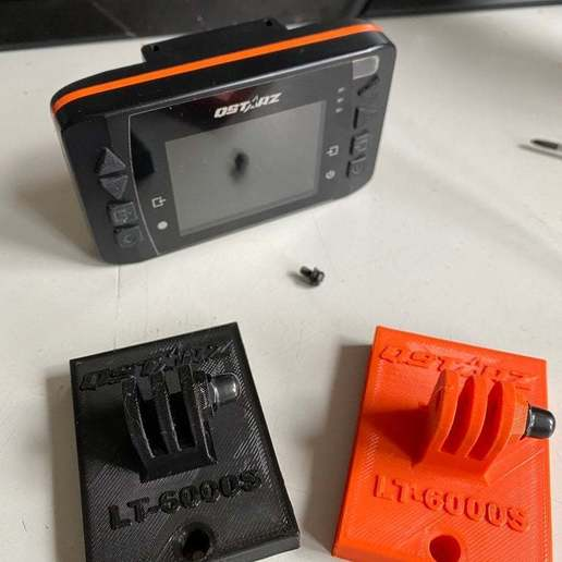 IMG_0309.JPG Download free STL file QSTARZ LT-6000 to GoPro Mounting Plate • 3D printable template, helmuteder