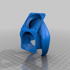 Download free 3D printer designs Ender 3 Fan Duct/Fan Mount, helmuteder