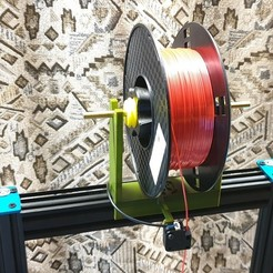 Download free 3D printer designs Spool Holder Artillery Printer, helmuteder