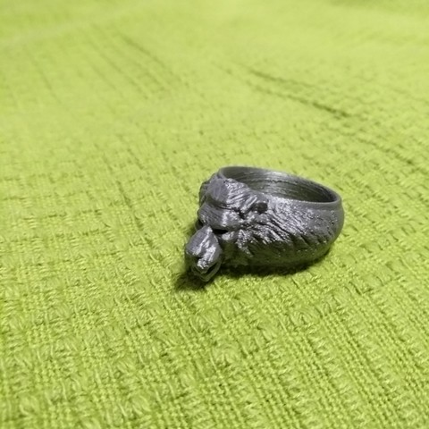 Free 3D printer model Lion ring, gbartoszg