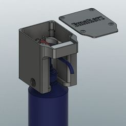 cult distributeur 2.JPG Download STL file Automatic hydroalcoholic gel dispenser • 3D printable design, Emakerz