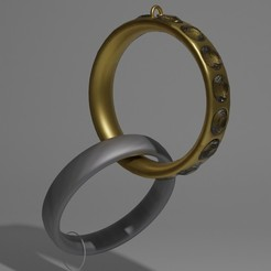 Download free 3D printer templates Necklace rings, hugobonnement