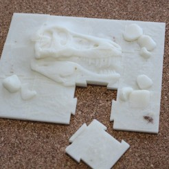 "Impresiones 3D gratis Jigsaw ""Paleontology"" (12 pieces), timbislopez"