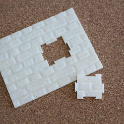 "Free 3D printer designs Jigsaw ""The wall"" (12 pieces), timbislopez"
