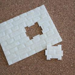 """Descargar archivos 3D gratis Jigsaw """"The wall"""" (12 pieces), timbislopez"""