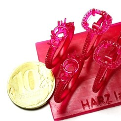 Free 3D printer model HARZ Labs Rings, HARZLabs