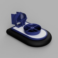 Download free 3D printer designs RC Hovercraft, janikabalin