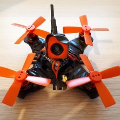 Free 3D printer designs Mini Brushless FPV Drone Frame, janikabalin