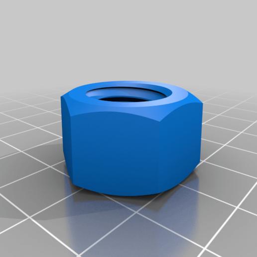 Nut.png Télécharger fichier STL gratuit Vis et écrou M14 • Modèle imprimable en 3D, bofl