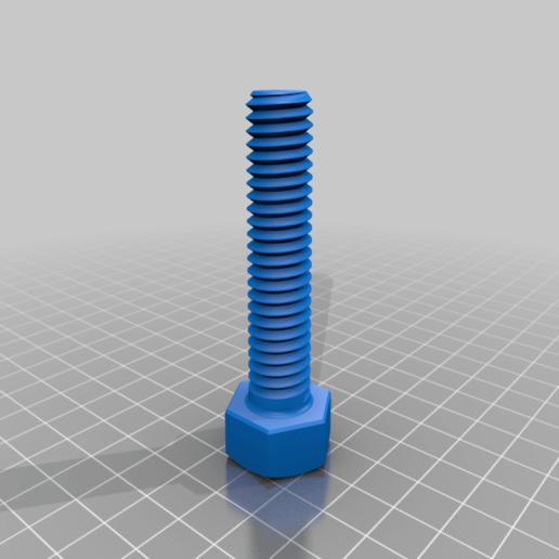 Screw.png Télécharger fichier STL gratuit Vis et écrou M14 • Modèle imprimable en 3D, bofl