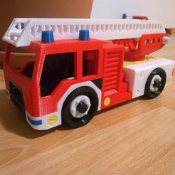 Free STL files fire truck toy, sasha19md