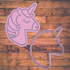 Diseño sin título.jpg Download STL file unicorn cookie cutter / unicornio cortador de galleta  • 3D printer model, Cutkie