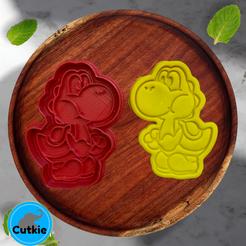 Yoshi.png Télécharger fichier STL Yoshi cookie cutter / cortador de galleta de Yoshi • Modèle imprimable en 3D, Cutkie