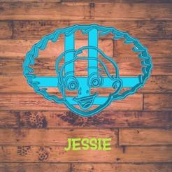 Diseño sin título-8.jpg Download STL file Jessie cookie cutter / cortador de galleta de Jessie • 3D printer object, ToolBoxCorp