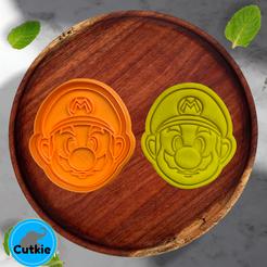 Mario.png Télécharger fichier STL Mario bros cookie cutter / Cortador de galleta de Mario bros • Design imprimable en 3D, Cutkie
