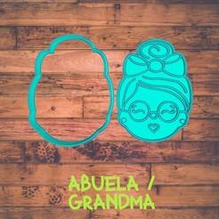 Diseño sin título-2.jpg Download STL file grandma cookie cutter / Cortador de galleta de abuelita • 3D printer template, ToolBoxCorp