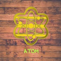 Diseño sin título-11.jpg Download STL file atom cookie cutter / cortador de galleta de átomo • 3D print template, Cutkie