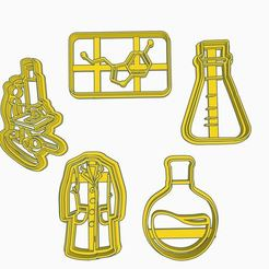 quimica.JPG Download STL file chemistry cookie cutter / chemistry cookie cutter • 3D printer model, ToolBoxCorp