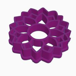 Imprimir en 3D  sunflower / girasol cookie cutter - cortador de galleta , ToolBoxCorp