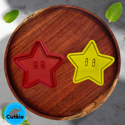 estrella.png Télécharger fichier STL Star cookie cutter / cortador de galleta de estrella mario bros • Objet imprimable en 3D, Cutkie