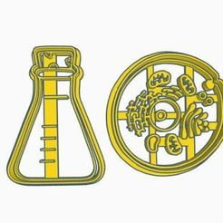 Descargar diseños 3D chemistry cookie cutter / Química cortador de galleta, ToolBoxCorp