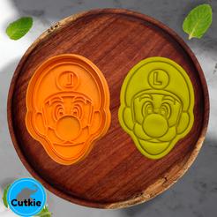 luigi.png Télécharger fichier STL Luigi cookie cutter / cortador de galleta de Luigi • Objet imprimable en 3D, Cutkie