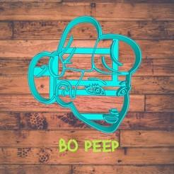 Diseño sin título-10.jpg Download STL file Bo peep cookie cutter / cortador de galleta de betty • 3D printer model, ToolBoxCorp