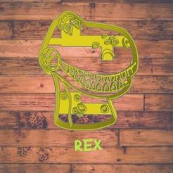 Diseño sin título-9.jpg Download STL file Rex cookie cutter / cortador de galleta de Rex • 3D print model, Cutkie