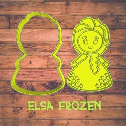Diseño sin título-16.jpg Download STL file Elsa Frozen cookie cutter / Cortador de galleta de Elsa frozen • 3D printing template, Cutkie