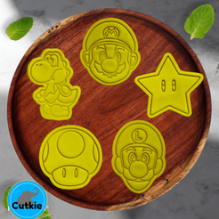 Mario .png Télécharger fichier STL Les emporte-pièces de Super Mario Bros / Cortadores de galleta de Super Mario Bros • Modèle pour impression 3D, Cutkie