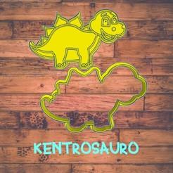 Diseño sin título-4.jpg Download STL file kentrosauro (dinosaur) cookie cutter / cortador de galleta de dinosaurio • Template to 3D print, Cutkie
