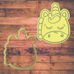 Diseño sin título-2.jpg Download STL file Unicorn cookie cutter / Unicornio cortador de galleta • 3D print design, Cutkie