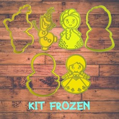 Diseño sin título-2.jpg Download STL file frozen cookie cutter / kit de cortadores de galleta de frozen • 3D printable model, Cutkie