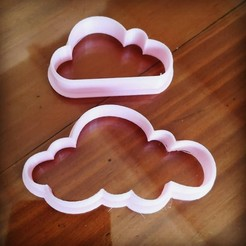 Download 3D printing designs COOCKIE CUTTERS CLOUDS CORTANTE CLOUDS, atractor3d