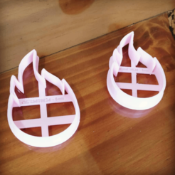 Download 3D printing templates COOKIE CUTTER FIRE CUTTERS FLAME FIRE, atractor3d