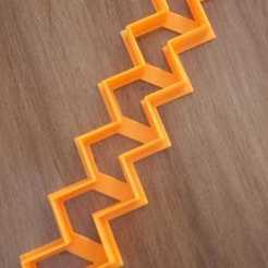 Imprimir en 3D corte zig zag tipo chevron, atractor3d