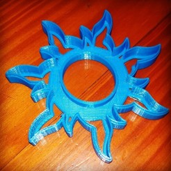 Download 3D printer templates COOKIE CUTTER TANGLED SUN CORTANTE SOL ENREDADOS DISNEY, atractor3d