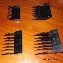 Download 3D print files SET HAIR COMBS HAIR CLIP, atractor3d